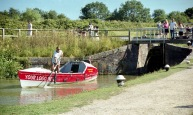 Sam leaving Foxton locks 1 7.03