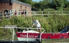 Sam leaving Foxton Locks 2 7.03
