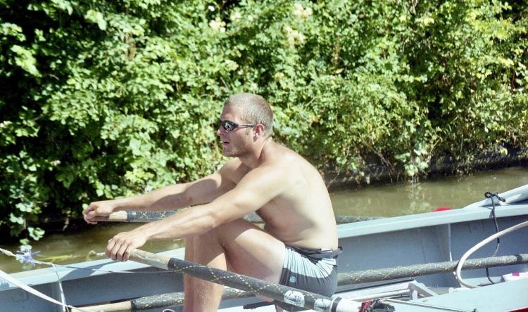 Sam rowing