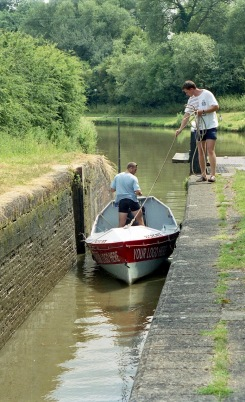 Sam and James at lock 7.03