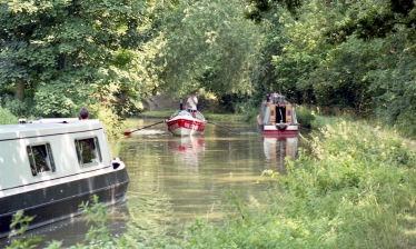 Sam and James in Pacific Pete and narrowboats 7.03