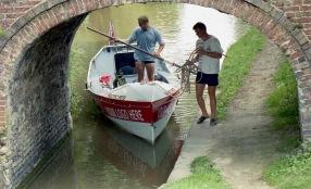Sam and James negotiating bridge 7.03