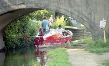 Sam and James through Shipton Bridge 7.03
