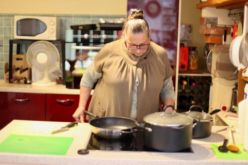 Jackie cooking 2