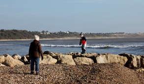 Boy on breakwater