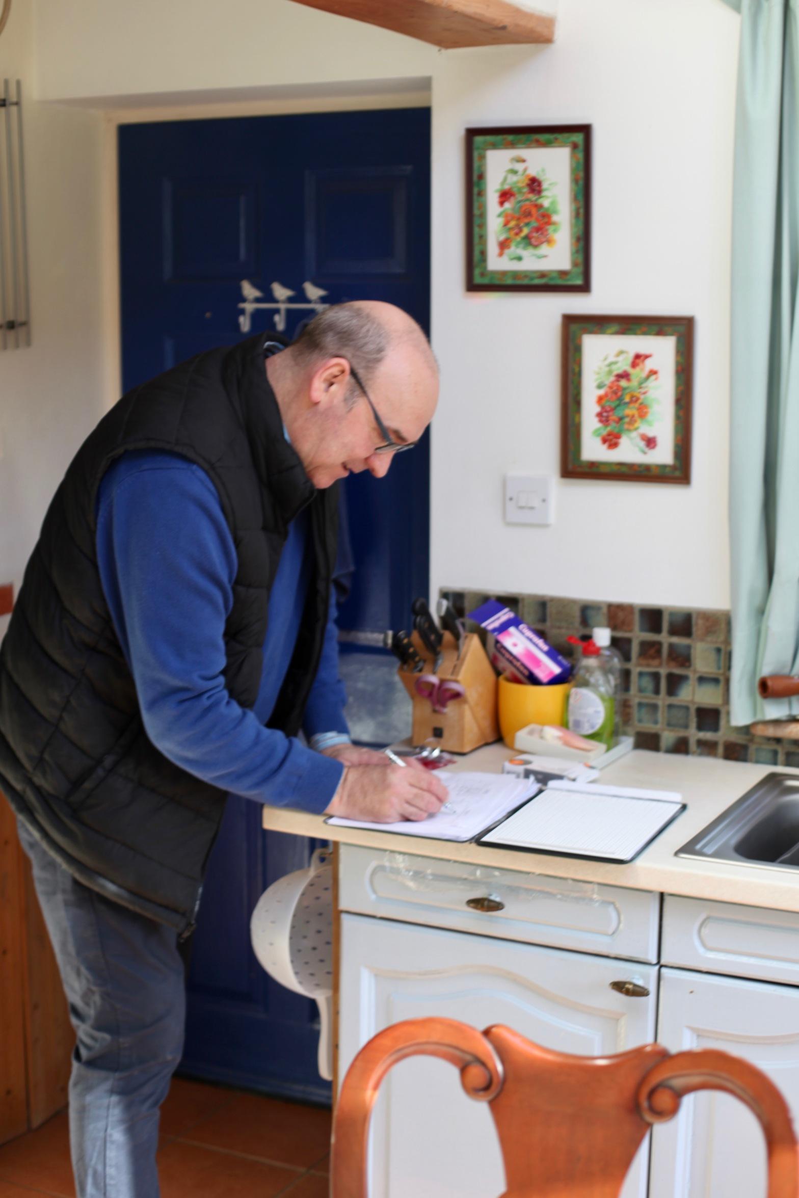Dale writing