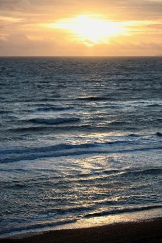 Sun on waves