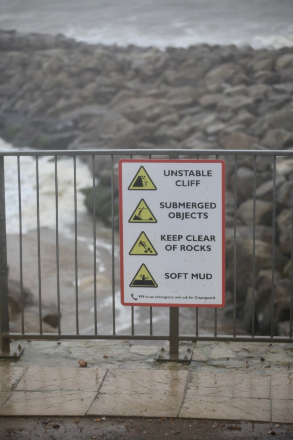 Warnings of Unstable Cliff etc