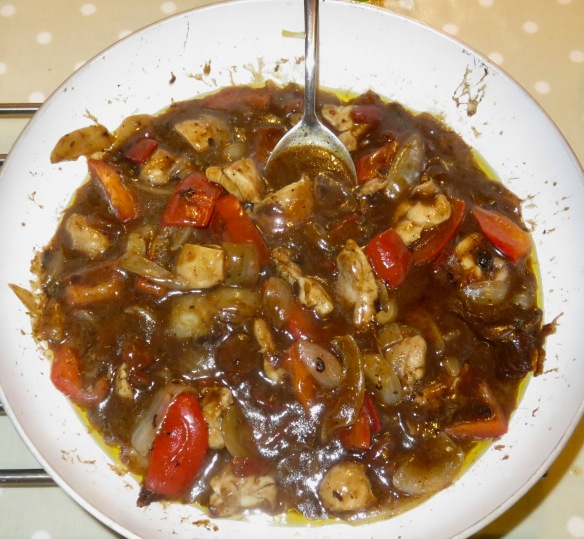 Chicken and black bean sauce