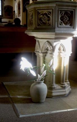 Lilies at font 2