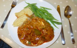 Pork paprika meal
