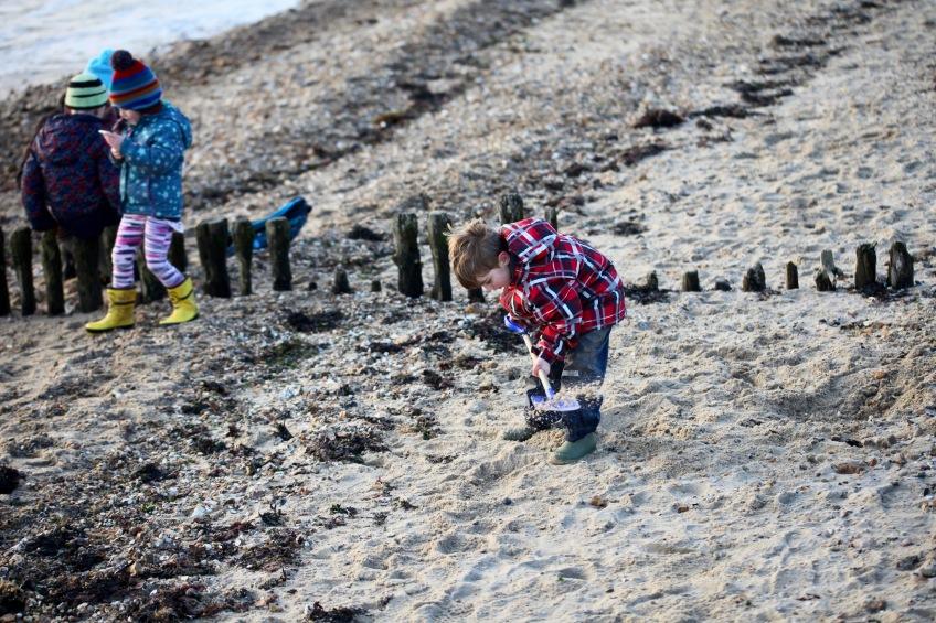 Boy digging