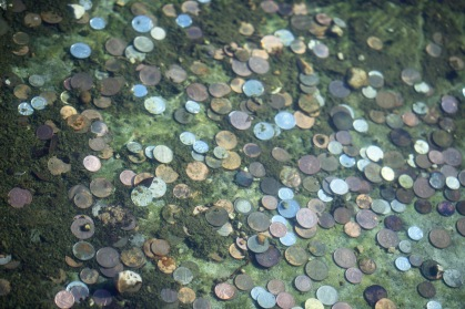 Coins in pool