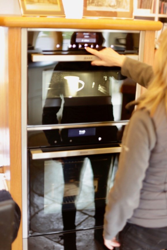 Anne demonstrating microwave