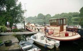 Sam, Paul, Dutch barge
