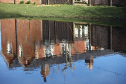 Reflected houses