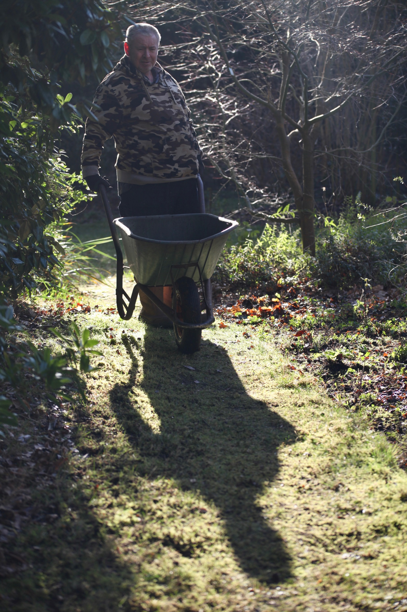 Gardener Rob with wheelbarrow