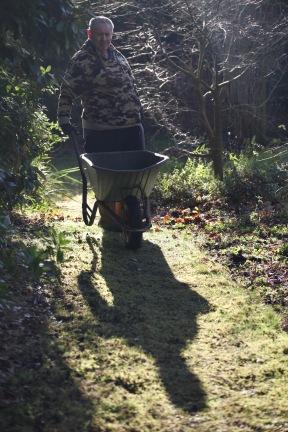 Gardener Rob with wheelbarrow