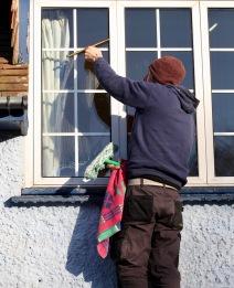 Aaron cleaning windows 2