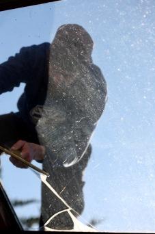 Aaron cleaning windows 8