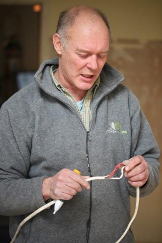 Richard with chewed wiring