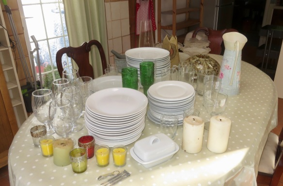 Plates, glasses, etc.