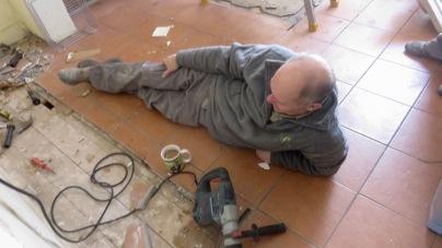 Richard contemplating floor