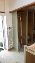 Cupboard side in situ