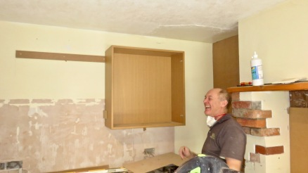 Richard and hanging cupboard