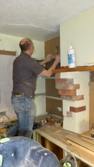 Richard fitting shelves