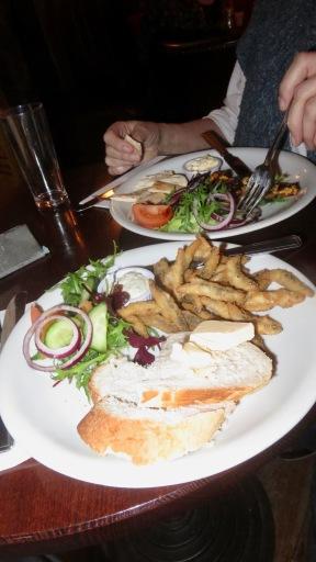 Whitebait and chicken satay