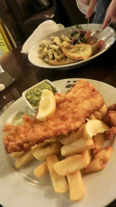Fish and chips and Penne pasta