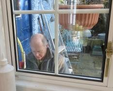 Richard plumbing (through the window)