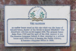 The Mansion plaque