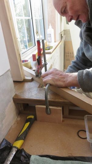 Richard clamping oak trim