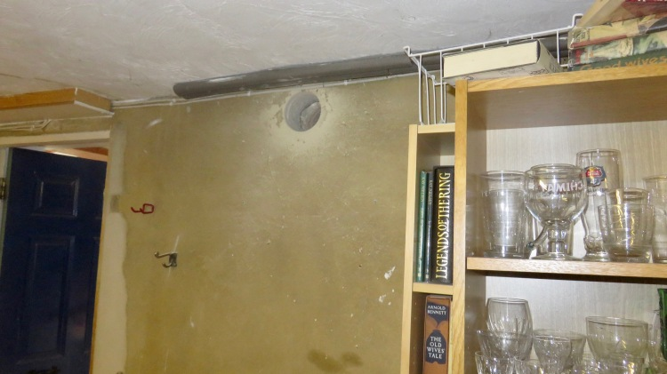 Hole cut for extractor fan