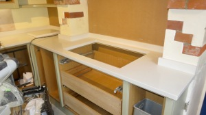 Worktops and cupboards