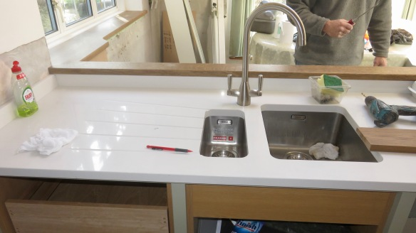 Sink and draining board