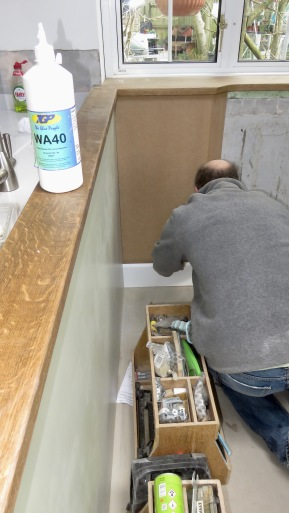 Richard fitting new skirting boards