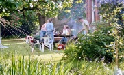 Barbecue in garden
