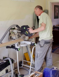 Richard operating chop saw