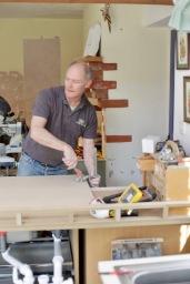 Richard applying clamps
