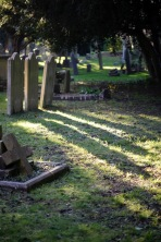 Gravestones and shadows