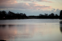 Skies reflected in Hatchet Pond