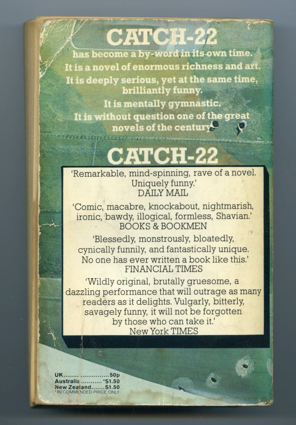 Catch - 22 back cover blurbs