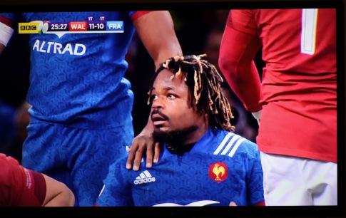 Wales v France rugby Bastereau