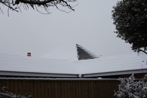 North Breeze roof in snow