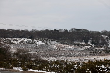 Snow on moors