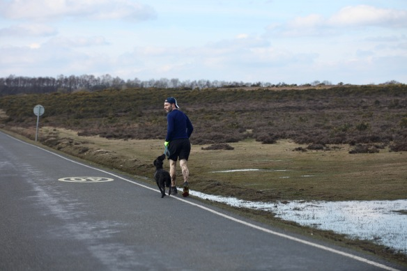 Runner and dog