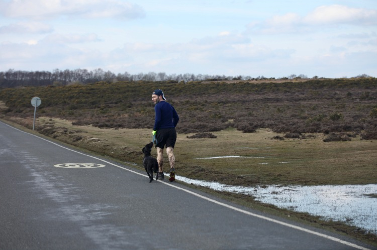 Runner and dog
